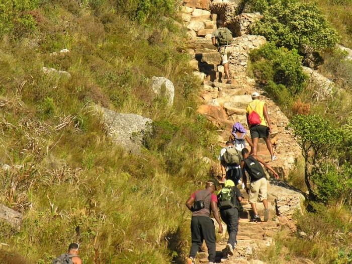 Platteklip Gorge steps