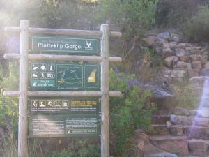 Platteklip Gorge entrance